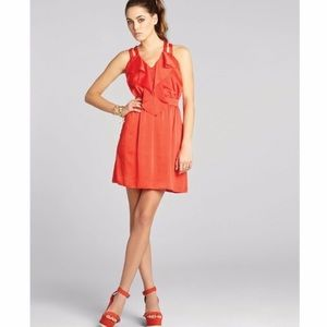 BCBG // Orange strappy criss cross dress
